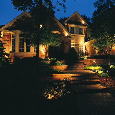 Landscape accent lighting creates appeal and security conserv inc landscape accent lighting services include aloadofball Choice Image